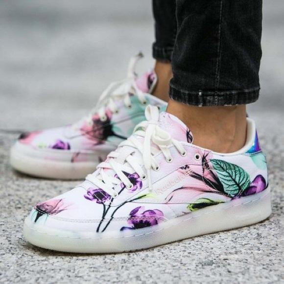 Reebok Club C 85 X-Ray Botanical White Trainers 10.  M 5aa72816f9e5014375387add. Other Shoes ... 039189526